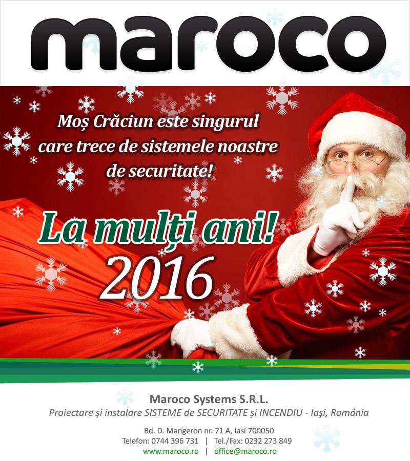 MAROCO vă urează Sărbători Fericite și La Mulți Ani în 2016!